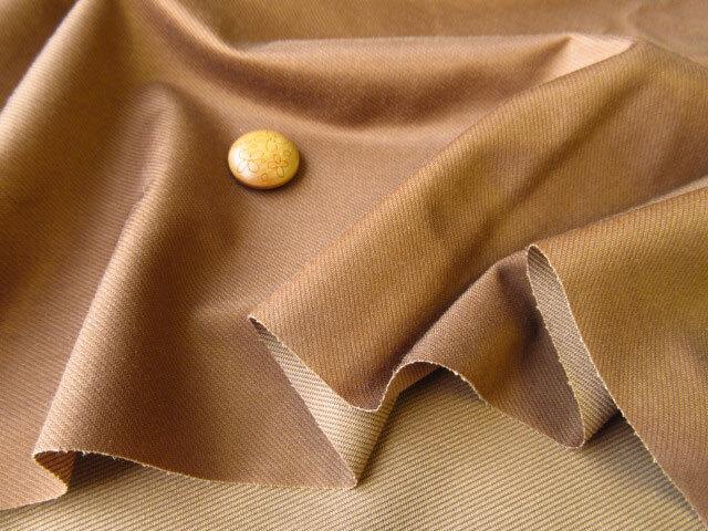アウトレット!光沢のある綾織ニット〈キャメル系〉 約1.5mカット
