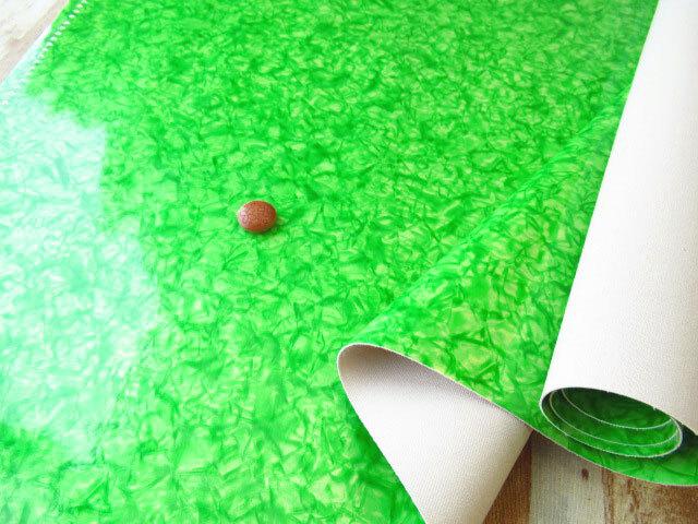 アウトレット!≪バッグ向き≫ビニールレザー グリーン 約50cmカット
