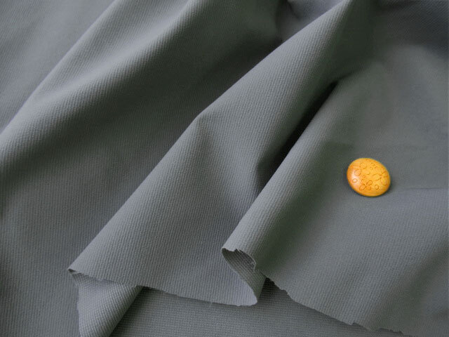アウトレット! やや伸びる幅広タフタ風 ダークグレー系 約2cmカット