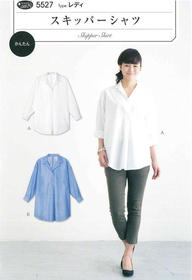 フィットパターン <スキッパーシャツ> 【レディ  】( 5527 )