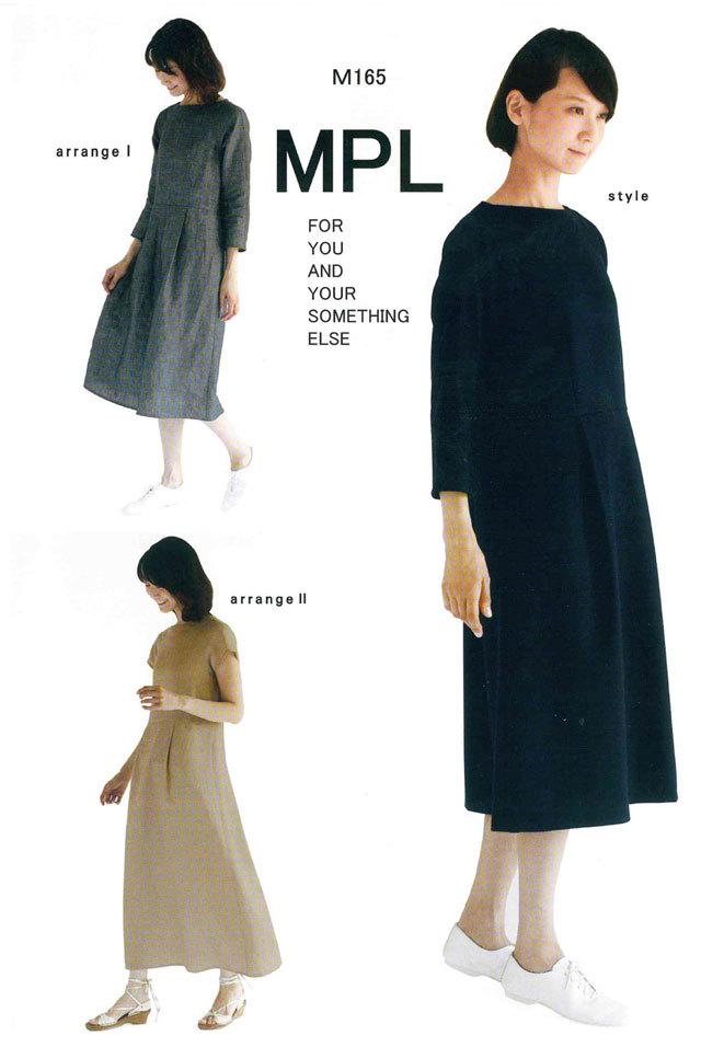 mパターン研究所 <ラグランウエスト切り替えドレス> 【大人サイズ 】( M165 )