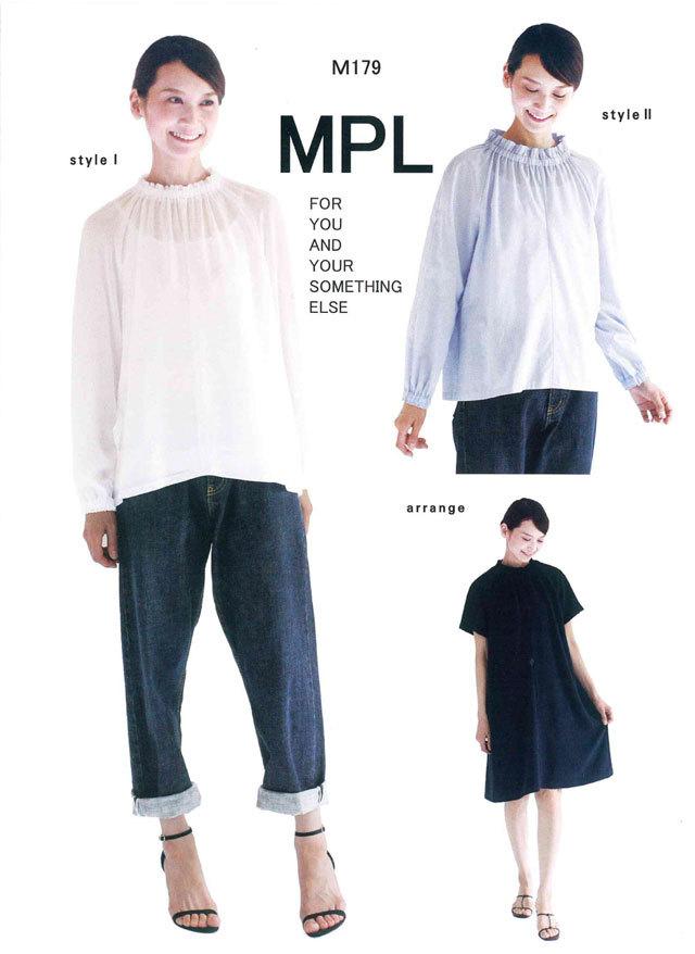 mパターン研究所 <ハイネックシャーリング ブラウス> 【大人サイズ 】( M179 )