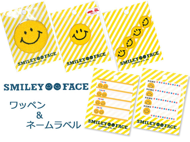 SMILEY FACE  『 ワッペン&ネームタグ 』