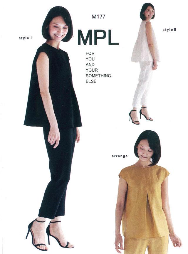 mパターン研究所 <フレアーブラウス&パンツセットアップ> 【大人サイズ 】( M177 )