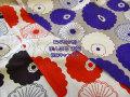 綿麻キャンバス ≪う早この布≫ 『 まんまる お花 』