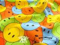 【綿麻キャンバス】 SMILEY FACE☆( スマイリーフェイス ) 『 ビッグ スマイリー 』 カラフル