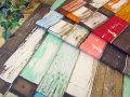 【コットン オックスプリント】 Colorful Flooring ◇ カラフル フローリング
