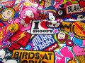 【コットン オックス】 ☆PEANUTS☆(ピーナッツ) 『ポップ×2 スヌーピー』 カラフル