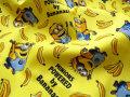 2回目の再入荷!【コットン オックス】 ≪ミニオンズ≫『 MINIONS POWERED by Bananas! 』 イエロー