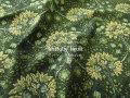 【コットン シャーティング】 ≪YUWA≫ リファインド加工 ミュールズコレクション 『 アンティーク ◇ フルーツ 』 グリーン