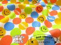 【コットン 20オックス】 SMILEY FACE☆( スマイリーフェイス ) 『 ドットスマイリー 』 カラフル