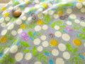 【約54cm幅×約50cmカット*ミニカットクロス】『ベリー&バタフライ』グレー【ふんわり ダブルガーゼプリント】