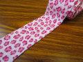 お買い得! 巾約3cm フライスニットテープ 『レオパード』 〈ピンク〉 約5mカット