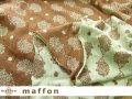 【 maffon (マフォン) 】 2回目の再入荷! 約75cm幅 リバーシブルジャガード接結ニット 『 ハリネズミ柄 』 ウッド/杢グリーン