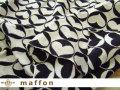 【 maffon (マフォン) 】 約75cm幅 リバーシブルジャガード接結ニット 『 サークルハート柄 』 黒/アイボリー