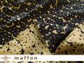 【 maffon (マフォン) 】 約75cm幅 リバーシブルジャガード接結ニット 『 ねこ柄 』 黒/キャメル