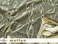 【 maffon (マフォン) 】  約75cm幅 リバーシブルジャガード接結ニット 『 おすましうさぎ柄』 ダーク杢グレー/バニラ