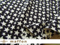 【 maffon (マフォン) 】 約75cm幅 リバーシブルジャガード接結ニット 『 エトワール柄 』 黒/アイボリー