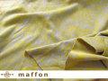 【 maffon (マフォン) 】 約75cm幅 リバーシブルジャガード接結ニット 『 ウィード柄 』  アッシュ/ミモザ