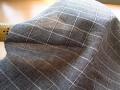 アウトレット!やわらかカノコ風ジャガードニット (チャーコル系×オフホワイト) 約1.5mカット