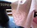 アウトレット!ジャガード接結ニット(うっすらプラム)約1.5mカット