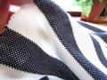 アウトレット!厚手カノコ風ニット(ネイビー×ホワイト〉 約1.5mカット