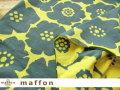 【 maffon (マフォン) 】 約75cm幅 リバーシブルジャガード接結ニット 『 アネモネ 』 アイアングリーン/レモン