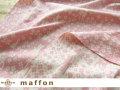 【 maffon (マフォン) 】 約75cm幅 リバーシブルジャガード接結ニット 『 フェアリーテール柄 』 ピンク/アイボリー