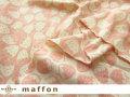 【 maffon (マフォン) 】 約75cm幅 リバーシブルジャガード接結ニット 『 いちご柄 』  コーラルピンク/アイボリー