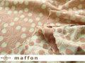 【 maffon (マフォン) 】 約75cm幅 リバーシブルジャガード接結ニット 『 チェリーズ柄 』  オパールピーチ/アイボリー