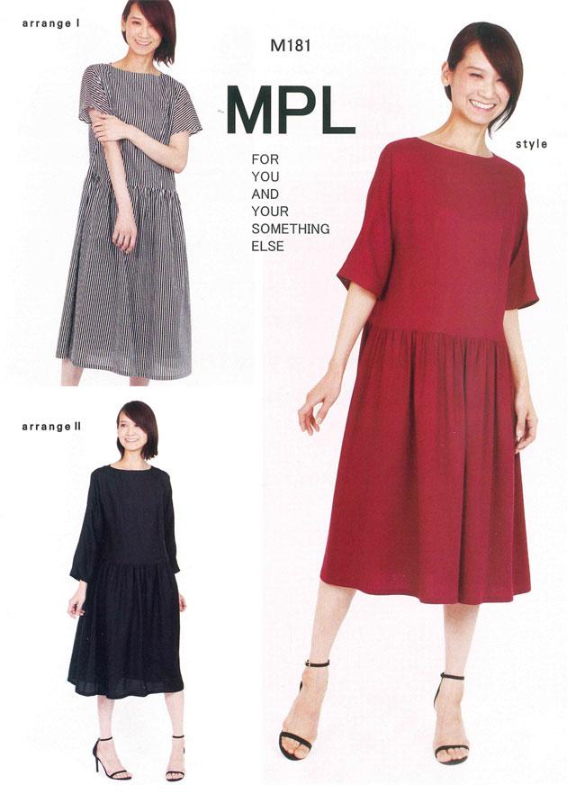 mパターン研究所 <ウエストギャザードレス> 【大人サイズ 】( M181 )