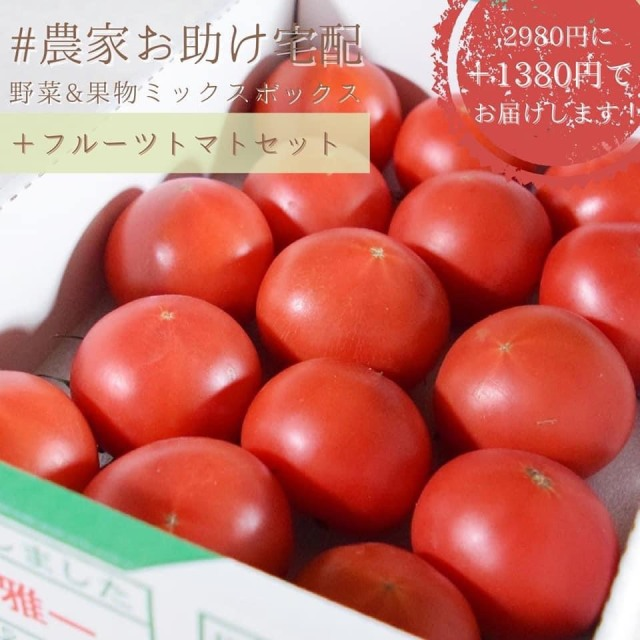 農家お助け!宅配 野菜&果物ミックスボックス<フルーツトマトセット>
