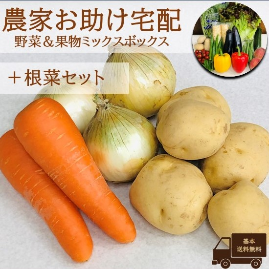 農家お助け!宅配 野菜&果物ミックスボックス<根菜セット>
