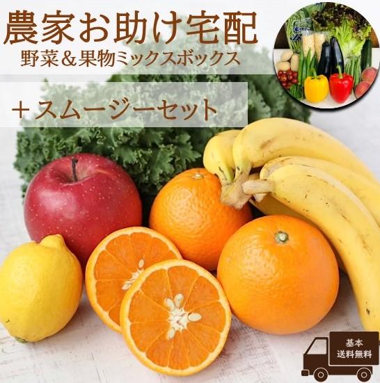 農家お助け!宅配 野菜&果物ミックスボックス<スムージーセット>