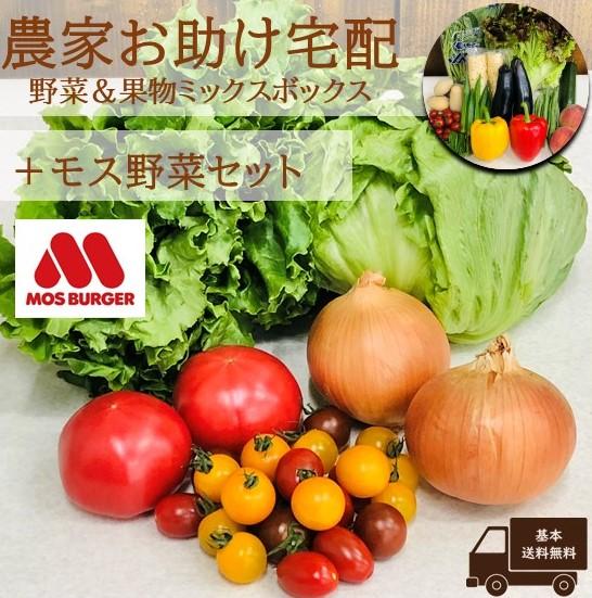 農家お助け!宅配 野菜&果物ミックスボックス<モス野菜セット>