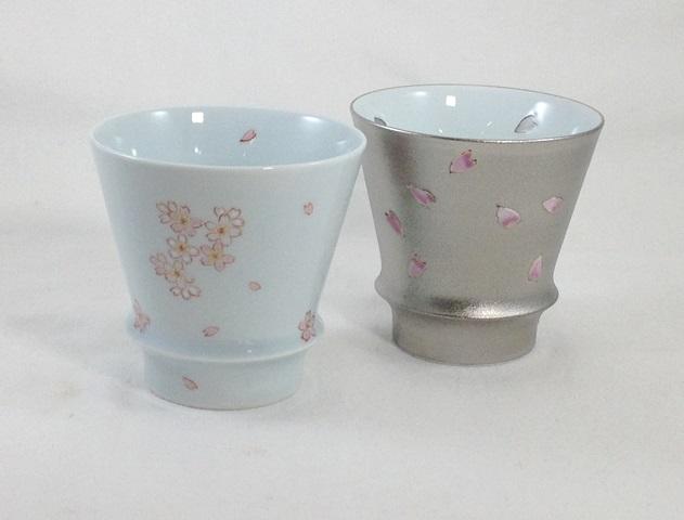 有田焼「匠の蔵」 至高の焼酎グラス 桜日和・夜桜 ペアグラス