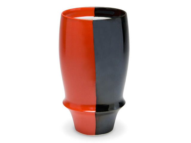 有田焼「匠の蔵」 プレミアムビアグラス 赤と黒