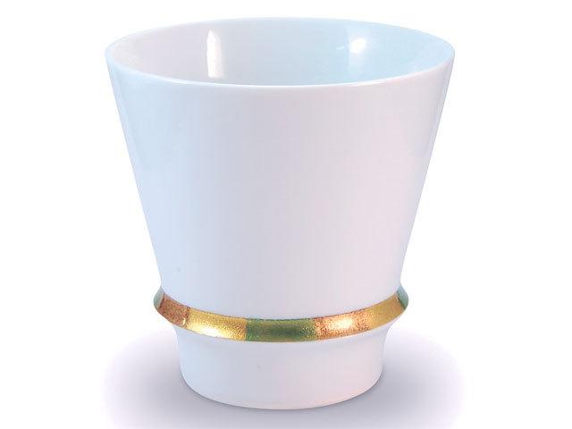有田焼「匠の蔵」 至高の焼酎グラス ハッピーリング(白)