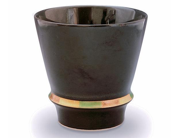 有田焼「匠の蔵」 至高の焼酎グラス ハッピーリング(黒)