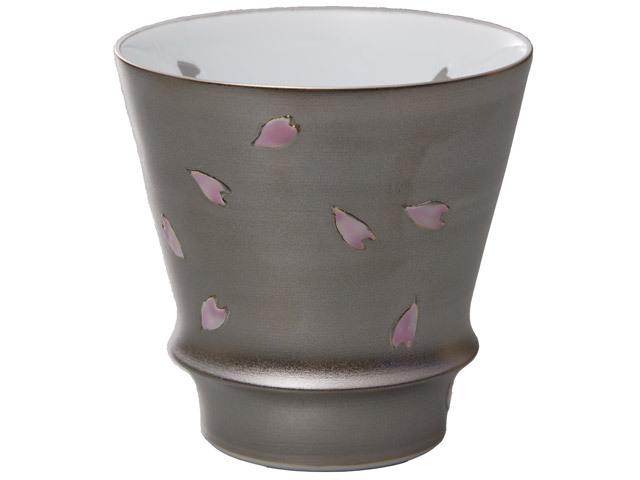 有田焼「匠の蔵」 至高の焼酎グラス 銀彩夜桜
