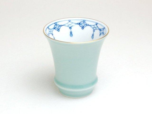 有田焼 匠の蔵 SAKE GLASS 青磁 瓔珞