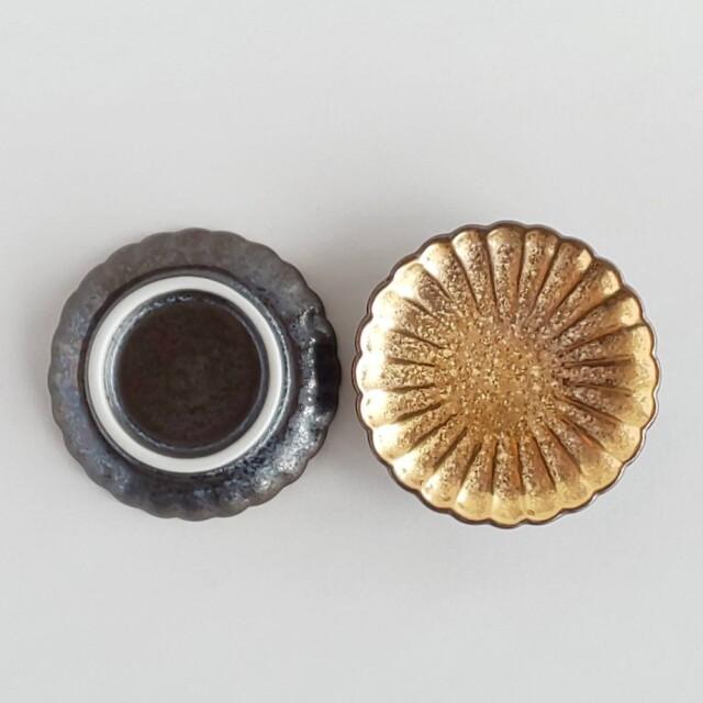 陶悦窯 菊小皿