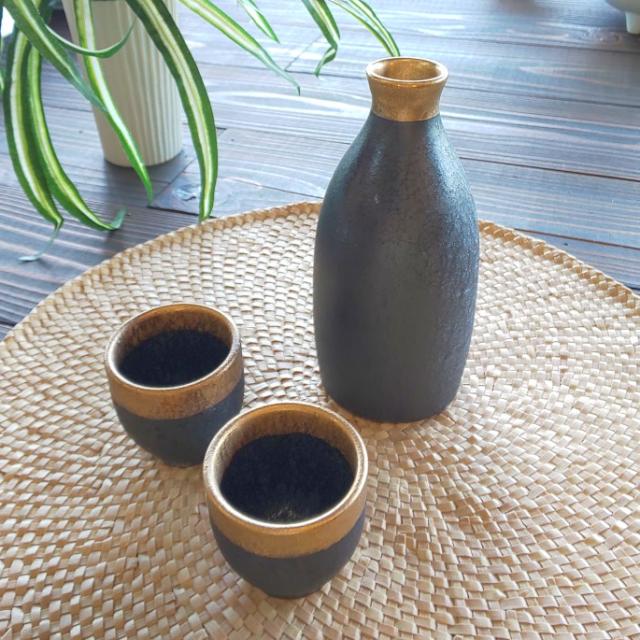晶渕太金塗 半酒器セット(1合徳利)