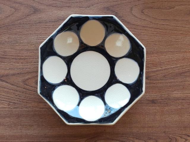 有田焼 丸紋 八角皿