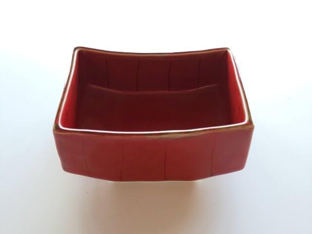 十草赤箱舟型鉢【在庫限りの限定価格】