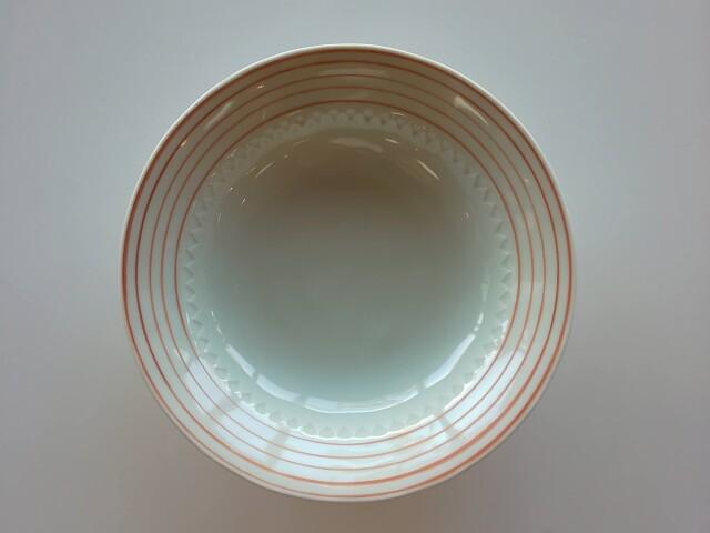 有田焼 赤ボーダー5寸皿【在庫限りの限定価格】