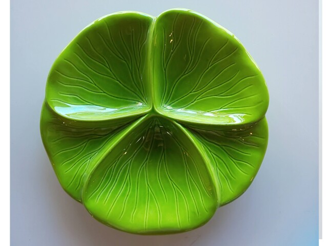3品盛皿(グリーン)【在庫限りの特別価格】