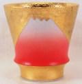 匠の蔵 焼酎グラス 金彩赤富士