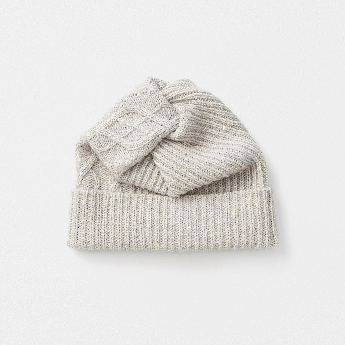 eco premiere pleats knit cap aran