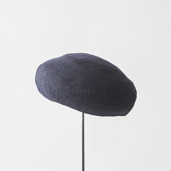 paper linen braid denim beret